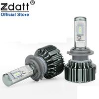 Zdatt 2Pcs Super Bright H7 Led Bulb Canbus 70W 7200LM Headlights Csp Auto Led Lamp No