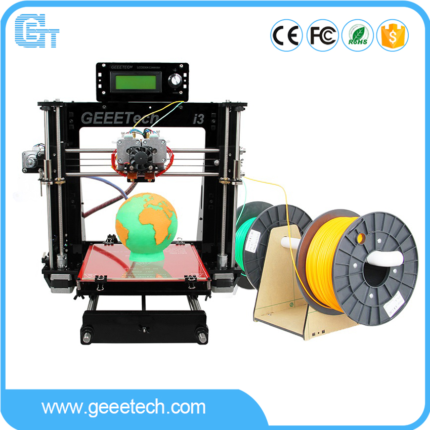 Geeetech 3D Printer Dual Extruder Reprap Prusa I3 Pro C Two Color Printing High Resolution LCD