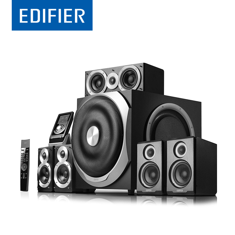EDIFIER S760D HIFI 5.1 Subwoofer Speaker All-digital Decoding 5.1 Subwoofer Speaker Support Multi-functional Remote Control