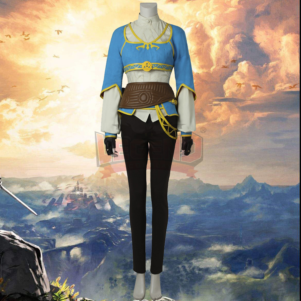 zelda breath of the wild The Legend of Zelda: Breath of the Wild girl Cosplay adult costume Custom Made full set All size