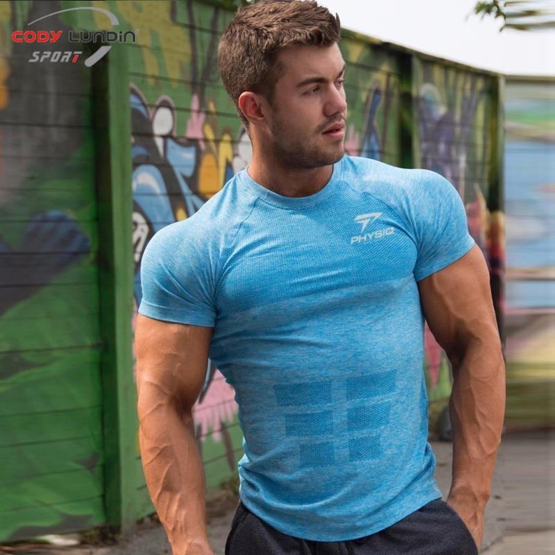 2018 summer new men Tight  Short sleeve t shirt Fitness bodybuilding shirts male Brand tee tops Fashion casual clothes-in T-Shirts from Men's Clothing & Accessories on Aliexpress.com | Alibaba Group