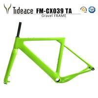 Tideace 2019 montaje de poste Aero grava Marco de bicicleta S/M/L disco bicicleta de grava de carbono marco QR o A través del eje