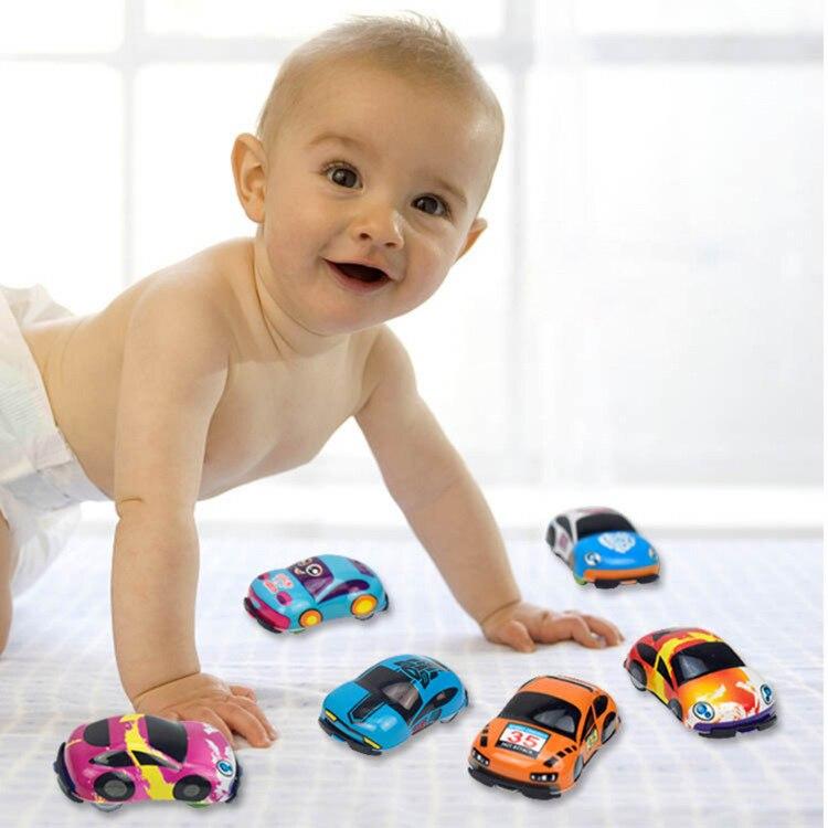 1 шт./шт. 10 шт. Детские игрушки милые пластиковые тянуть назад машинки игрушечные машинки для Детские коляски мини-модель автомобиля забавны...