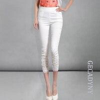 Hurtownie Nowy kobiety lato dorywczo cukierki kolor skinny wąskie spodnie farbują spodnie Diamentowe Koronki capris plus rozmiar Darmowa wysyłka