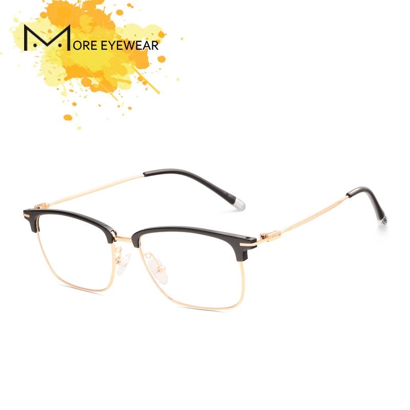 100% Kwaliteit 9265 Acetaat Recept Bril Mannen Metalen Ronde Brillen Tr Frame Metalen Bijziendheid Monturen Brillen Eyewear