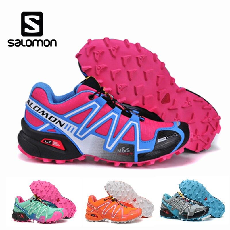 Salomon Speedcross 3 Women Sport Outdoor Shoes Athletic Speed Cross 3 Female Fencing Zapatillas Solomon Mujer Running shoes hongxiangyike zapatillas speedcross 3