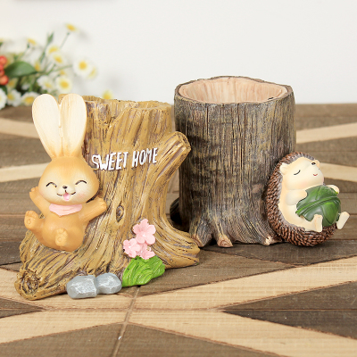 Creative Cute Pen Holder Rabbit/Cactus/Unicorn Pencil Holder Kawaii Desk  Accessories Office Stationery Desk Organizer