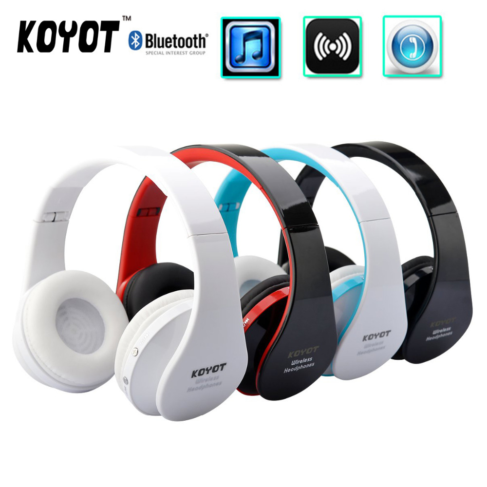 KOYOT Handsfree Stereo Music Headphone Foldable Wireless Bluetooth Music Earphone with Micphone for Computer PC font