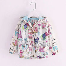 2016 Children Kids Boys Girls Graffiti Jacket Coat Hooded Outerwear Autumn Clothes