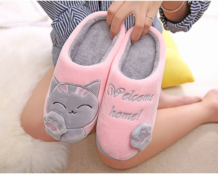 Cozy Warm Kitten Cat Slippers