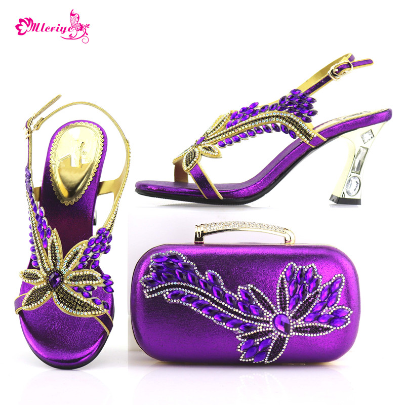 7437 Italian Shoes With Matching Bags Set Italy African Women's Party Shoes and Bag Sets purple Color Women shoes doershow italian shoes with matching bags set italy african women s party shoes and bag sets pink color women shoes smb1 4