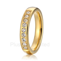 2016 China factory hot sale gold color wedding band engagement rings for women