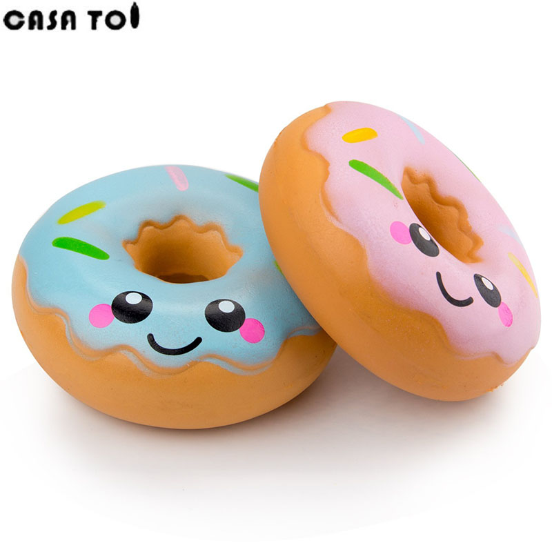 PU Squishy Cute Soft Toy Doughnut Squeeze Funny Stress Squishies Fun Crazy Squeeze Childrens Toys For Boys and girls