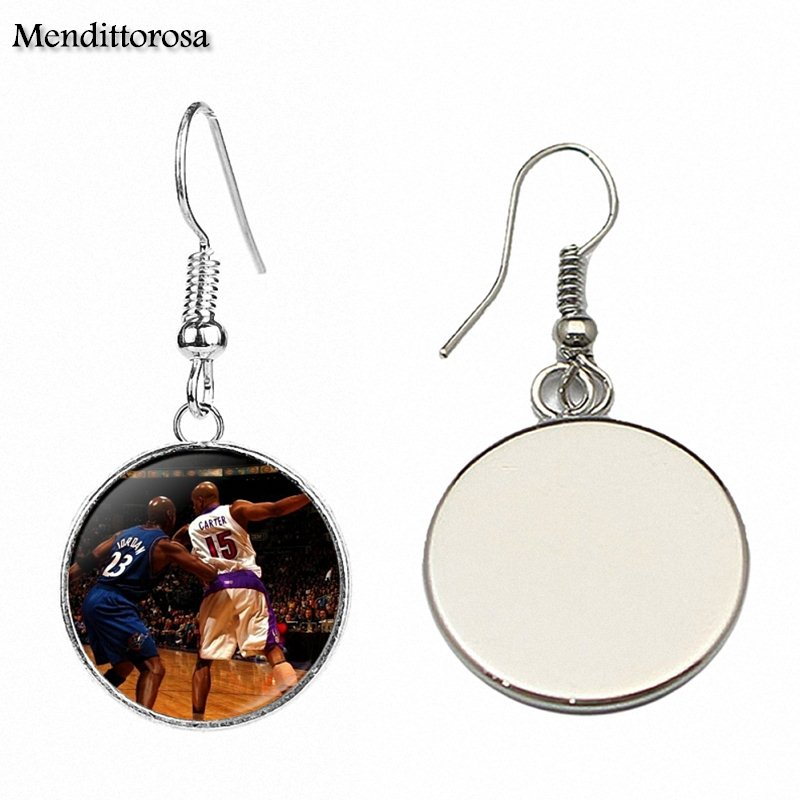 For Schoolgirl Maxi Bronze/Silver/Golden Clip Ear Hook Drop Earrings Russell Westbrook Vince Carter Kerry
