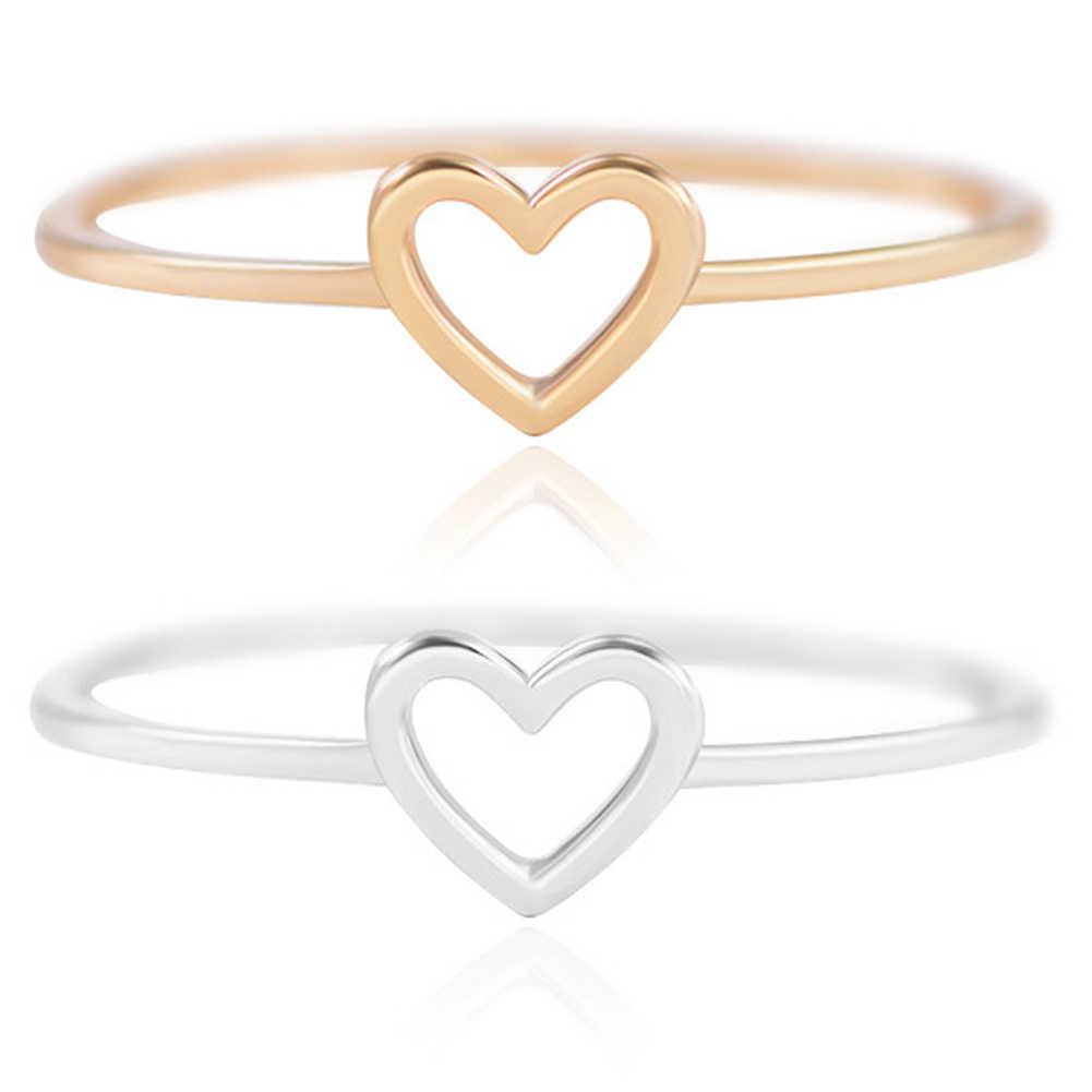 1 шт. изящное женское кольцо, кольцо с полым сердцем для пары, свадебные обещания, бесконечность, вечность, любовь, ювелирные изделия, Boho Anillos Mujer BFF, подарки
