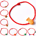 Novelty Different Styles Red Rope Charms Lucky Bracelet Jade Bracelet Bijouterie for Girl Free Drop Shipping