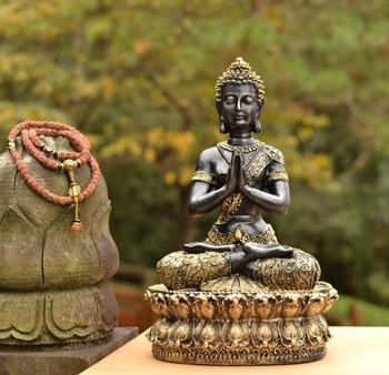 large - Wholesale Buddhist supplies # home good decorative Buddha art -Southeast Asia Lotus Praying  Sitting Buddha art statue