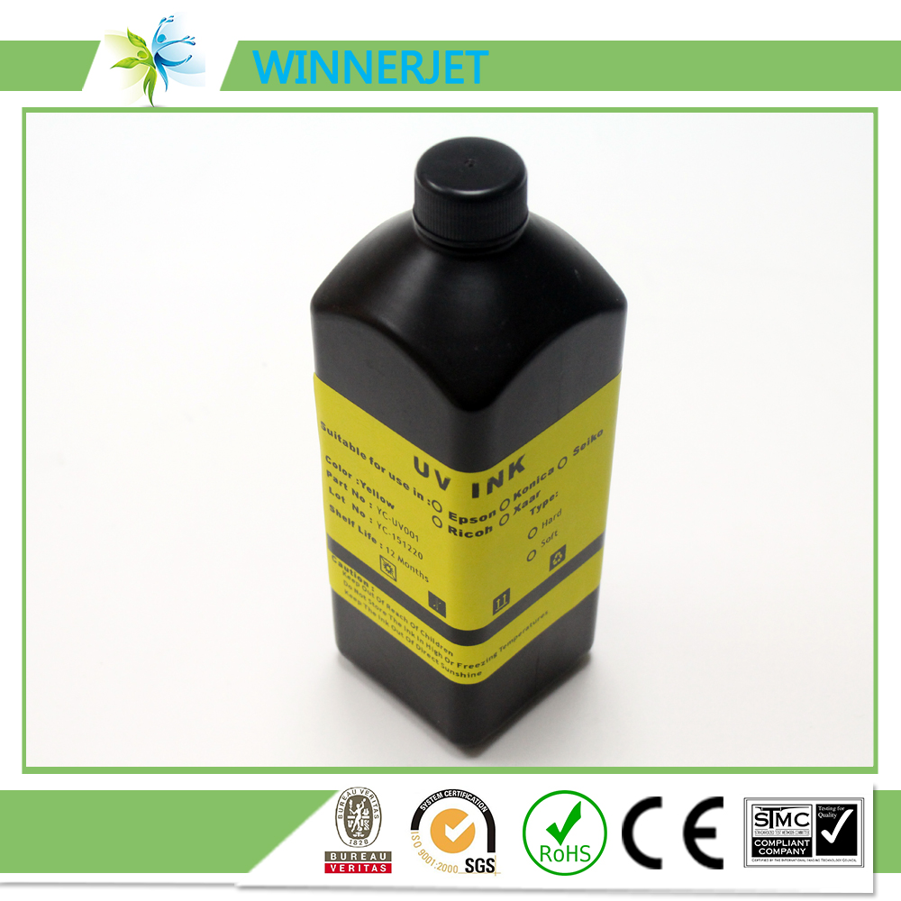 10 Color 1000ml/bottle Mercury lamp Rigid UV ink for Konica priner