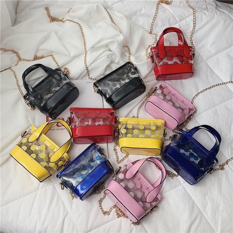 Children Cute Dot Print Design Cross-body Handbag Fashion Girls Kids PU Shoulder Messenger Bag