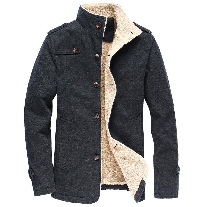 2019 Winter Warm Bomber Jacket Men Long   Parkas   Casual Fleece Coat Military Jacket Male Pilot Jacket Overcoat Plus Size 5XL 6XL