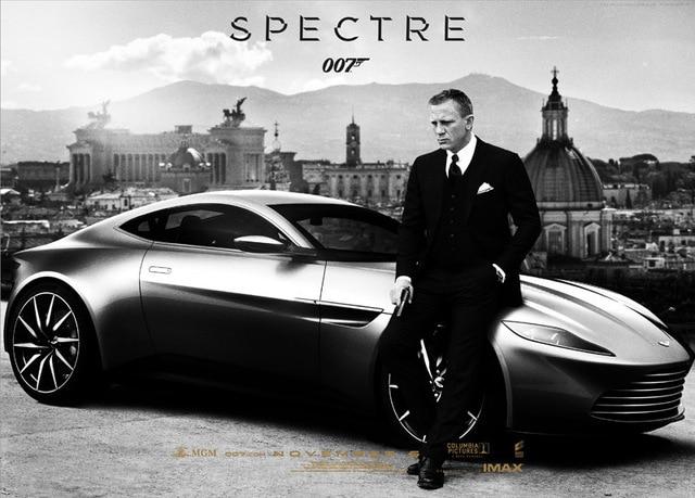 James Bond 007 Spectre Movie Car Canvas Fabric Poster Hot
