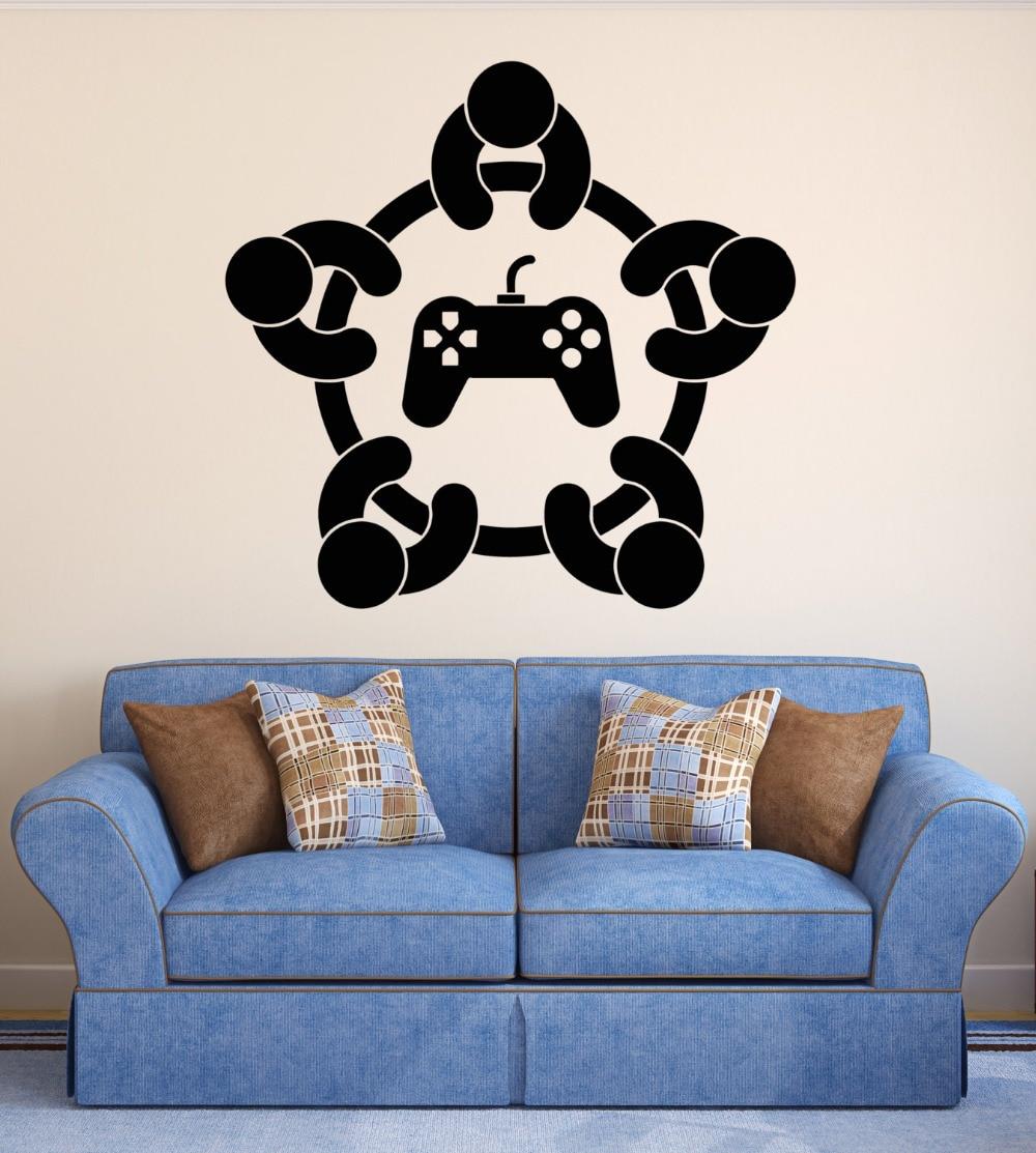 Diy dekoration wandaufkleber gaming player controller kinder ...