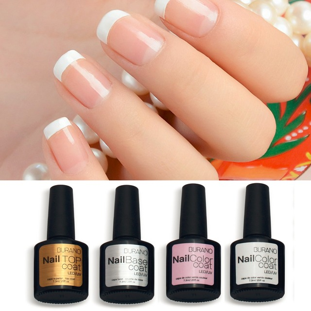 burano 7.3ml french manicure gel set nail art tips form uv gel ...