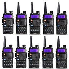 10 шт. Baofeng UV-5R портативной рации 5 Вт 128CH двухдиапазонный VHF и UHF 136-174 и 400- 520 мГц двухстороннее радио радиостанция baofeng uv-5r