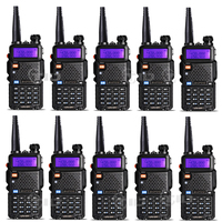 10pcs Baofeng uv 5r Walkie talkie 5W 128CH Dual Band VHF&UHF 136 174 & 400 520MHz Two Way Radio
