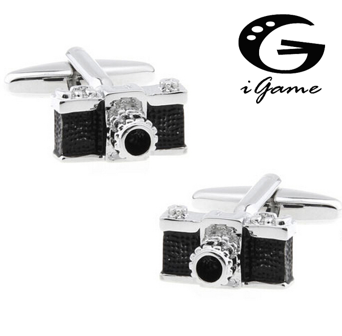 iGame Camera Cuff Links Unique Camera Design 2 Colors Option Crystal Decoration Free Shipping