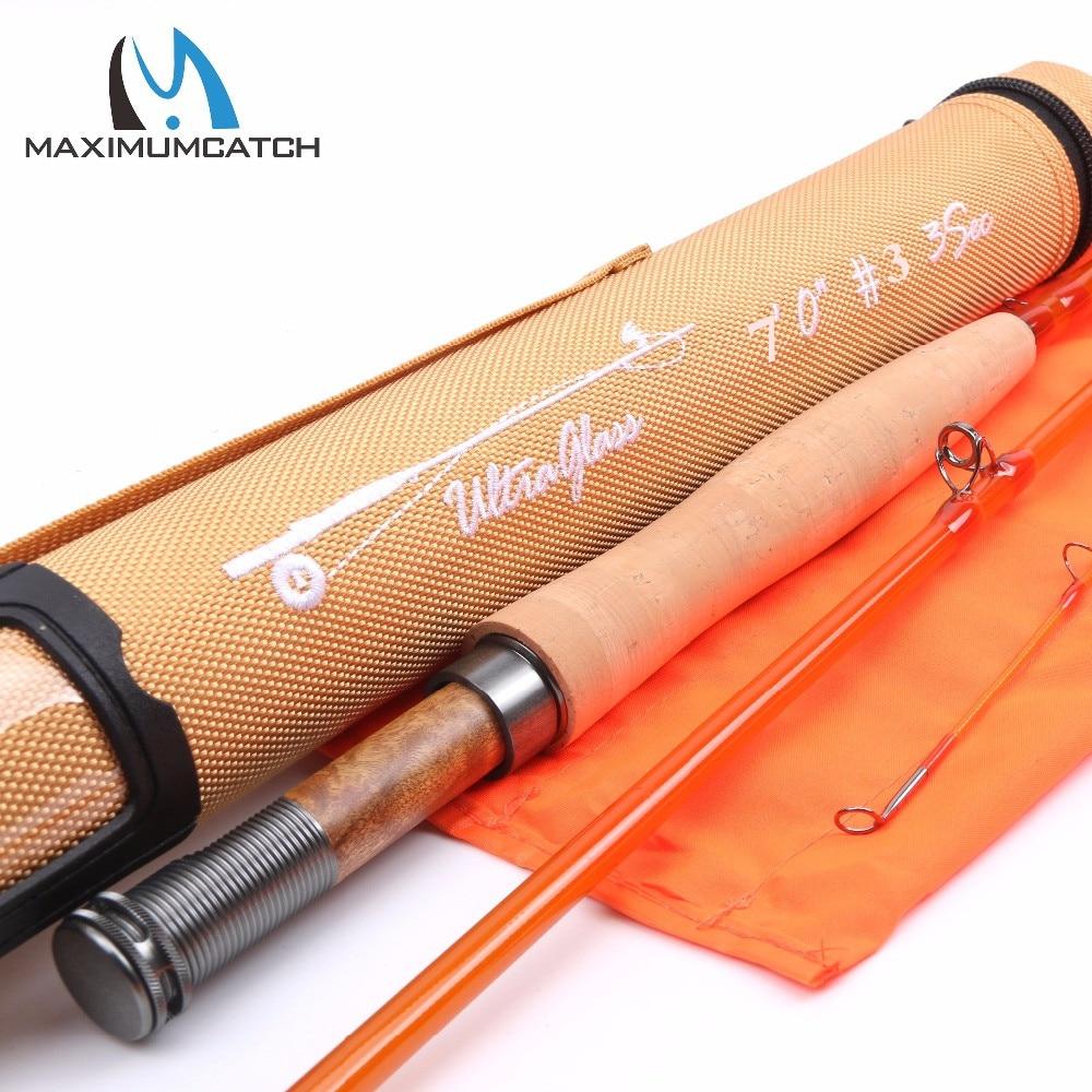 Maximumcatch Glasvezel Fly Staaf S + Glasvezel Met Cordura Tube Matige Action Fly Hengel 7'0''/8'0''/8'6'' 3/4/5WT