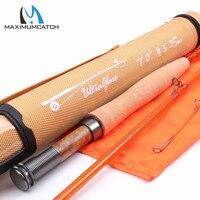 Maximumcatch Fiberglass Fly Rod S+ Fiberglass With Cordura Tube Moderate Action Fly Fishing Rod 7'0''/8'0''/8'6'' 3/4/5WT