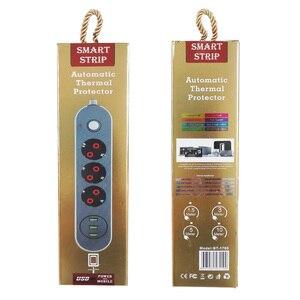 Image 5 - EU Cắm Nguồn Điện Cung Cấp Ổ Cắm Đa Năng Ổ Cắm Mạng Lọc Nối Dài Điện Dây Công Tắc Ổ Cắm Dây Cáp 2M USB Power Strip 10A