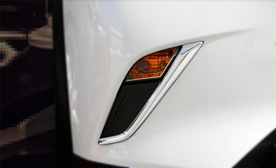 Yimaautotrims Front Fog Foglights Lights Lamp Eyelid Eyebrow Strip Cover Kit Trim Fit For <font><b>Mazda</b></font> CX-3 <font><b>CX3</b></font> 2015 - <font><b>2019</b></font> ABS Chrome image
