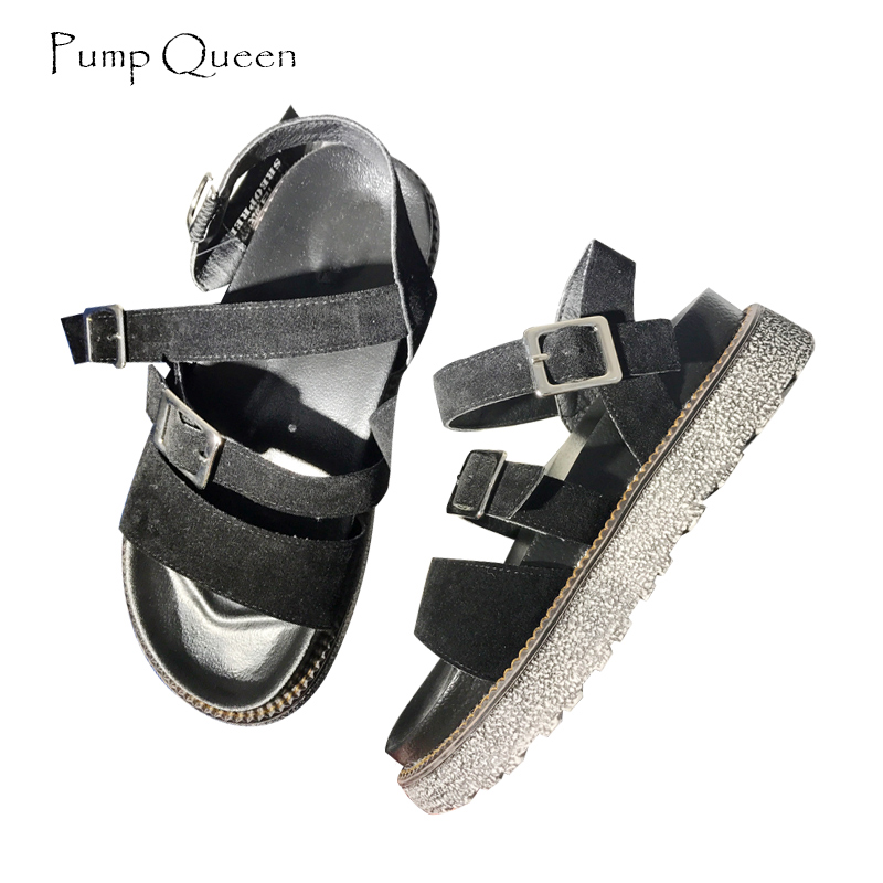 PumpQueen Shoes Women Sandals 2018 New Casual Summer Shoes Gladiator Sandals Platform Solid Women Shoes Footwear Zapatos Mujer summer shoes woman platform sandals women soft leather casual open toe gladiator wedges women nurse shoes zapatos mujer size 8