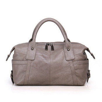 2019 New Vintage Soft Real Genuine Leather Women's Handbag Ladies Shoulder Tote Messenger Bag Purse Satchel Cowhide Boston Bags