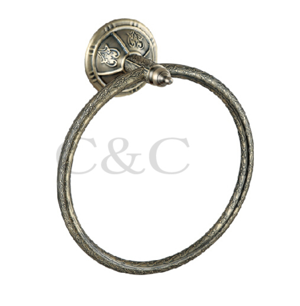 ФОТО Solid Copper Antique Plating Bathroom Towel Ring - Free Shipping 1106