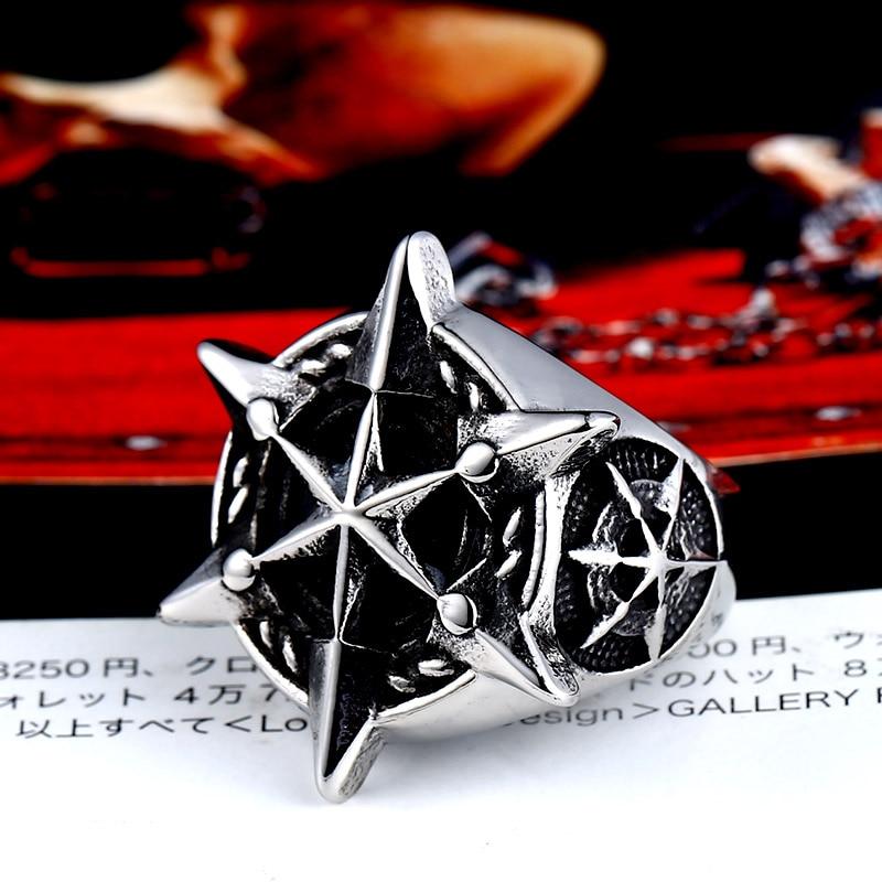 ac219b8fe715 BEIER 316L Acero inoxidable estrella clásica de David hombres anillo único  hexagrama joyería de moda regalo Dropshipping - www.salleram.ga