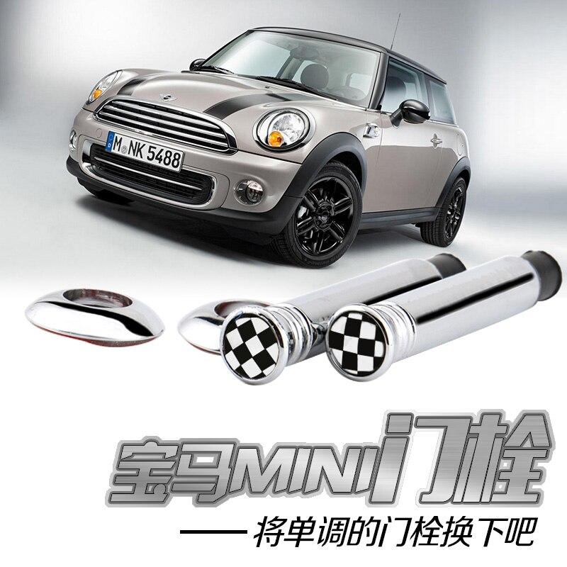 Carbon Fiber Door Bolt Stickers For Mini Cooper S One JCW Clubman Countryman R55 R56 R57 R58 R59 R60 R61 F56 F55 F60 Car Styling