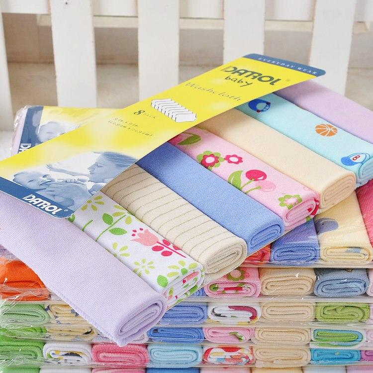 8pcs/lot Darol Baby Baby Handkerchief Small Towel Cotton Cotton Fabric babyruler baby cotton towel slobber increase handkerchief gauze of children