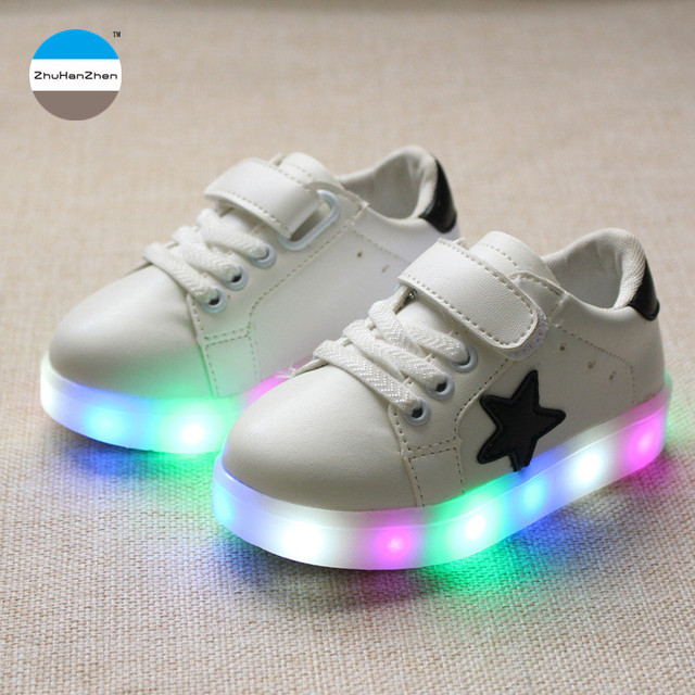 11bce8a8fba188 2018 LED light kids shoes 1 to 5 years old baby boys and girls fashion shoes  children casual shoes high quality glowing sneakers