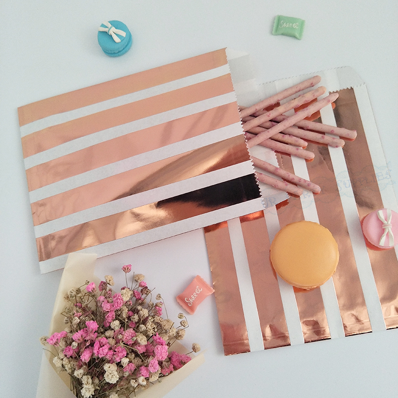 100PCS Baby Shower Wedding Party Favor Bag Paper Box Gift Treat Candy Goodie Box