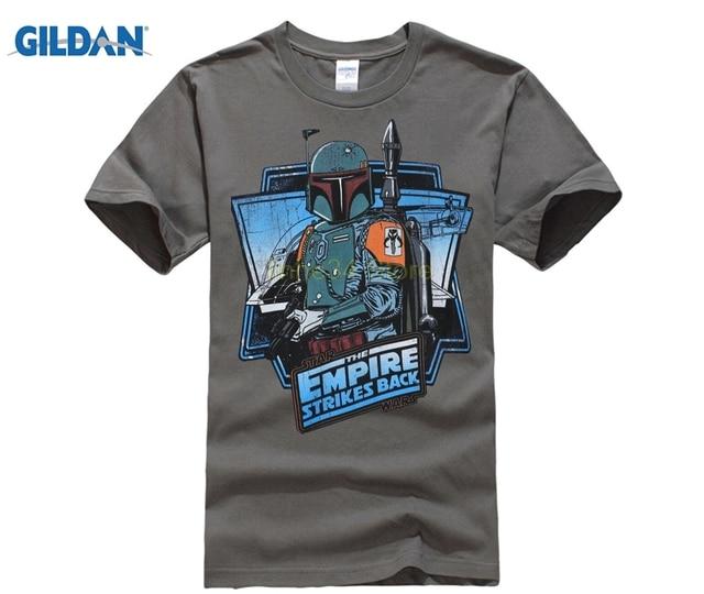 c2757ce3e93 GILDAN New Retro T Shirt Men Star Wars Top Tees Empire Strike Back T-shirt  Casual 100% Cotton Solid Movie Geek Short Sleeve