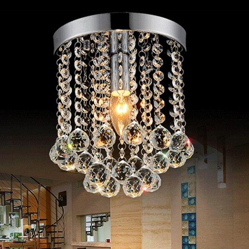 高級デザインクリスタル天井ランプ現代plafondlamp光沢天井照明用リビングルームの寝室  グループ上の ライト & 照明 からの シーリングライト の中 3
