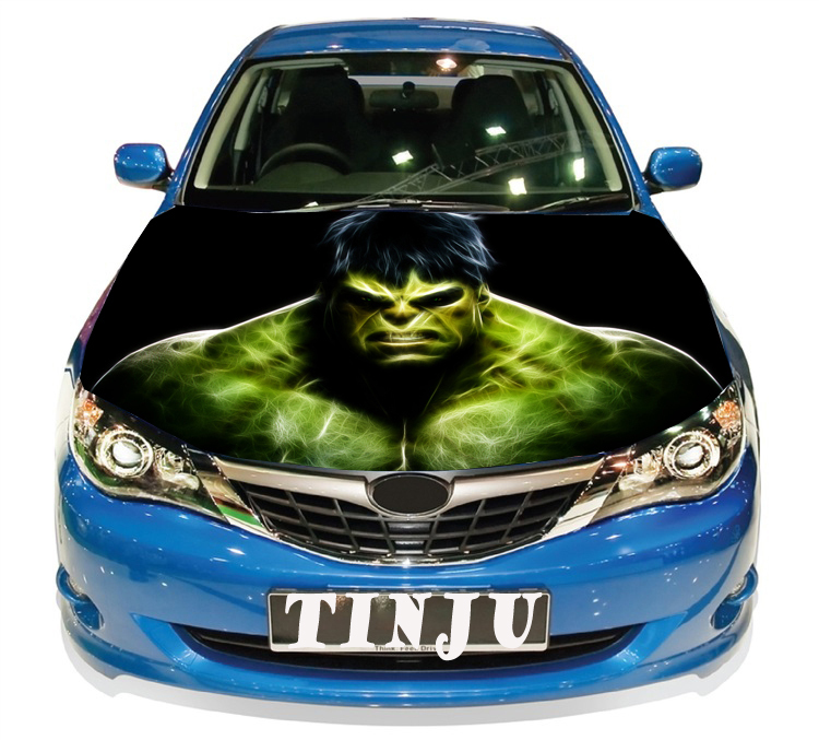 Anime Hulk PVC Self Adhesive Vinyl Car Hood Stickers ...