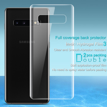 00da7118f7c Para Samsung S10 Plus Protector de pantalla IMAK funda de hidrogel III  suave TPU película para Samsung Galaxy S10 más S10 + s10e no de vidrio