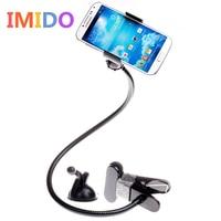 IMIDO 360 תואר גמיש הארוך Arms שולחן עבודה מחזיק טלפון סלולרי מחזיק טלפון עצלן מיטת סוגר קליפ עם יניקה לרכב Stand