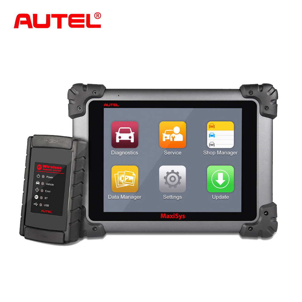 Autel MaxiSys Pro MS908 Car Diagnostic Scanner Wireless Car Repair Tool Vehicle Programming Diagnostic Scanner Update Online op com car vehicle diagnostic tool black