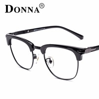 Donna TR90 Flexible Frame Man Glasses Optical Eyeglasses Clubmaster Wood Half Frames For Men Women Reading