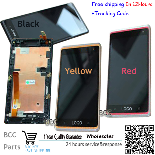 For HTC Desire 600 606 606w dual Sim Original Black Red Yellow Full LCD Display Touch